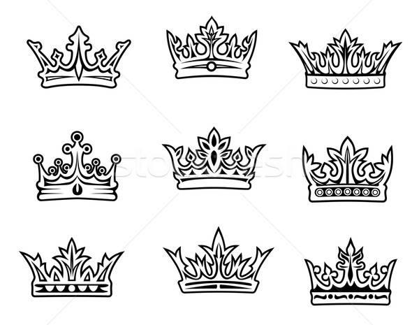 набор королевский знак золото ретро Vintage Сток-фото © anbuch