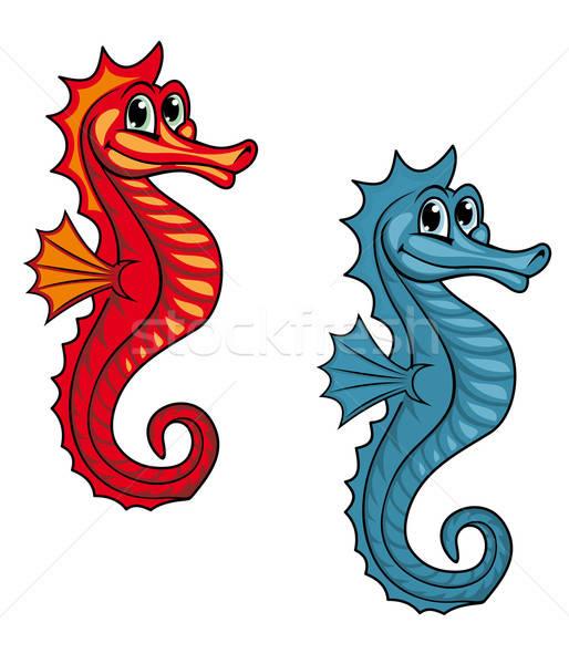Funny seahorse Stock photo © anbuch