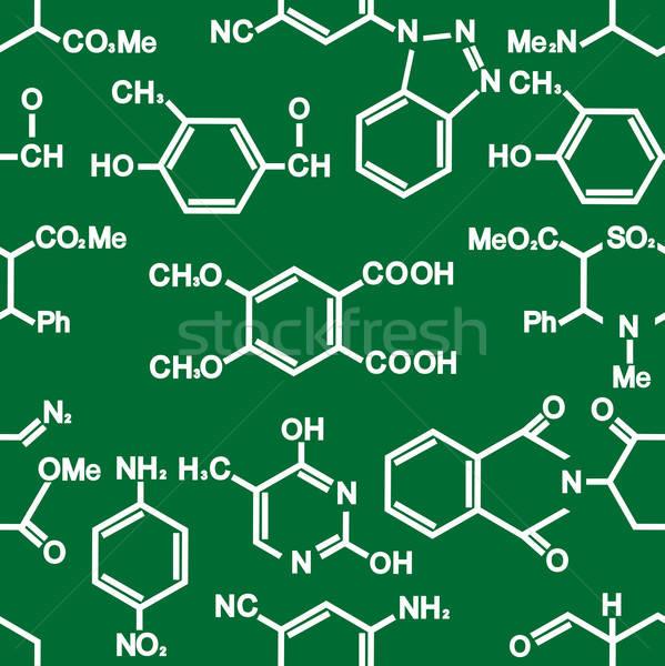 Chemie witte groene wetenschappelijk onderwijs Stockfoto © anbuch