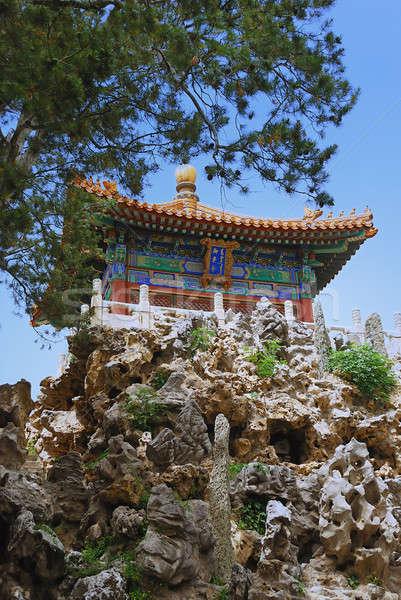 Anciens empereur temple belle cité interdite maison Photo stock © anbuch