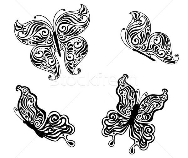 Black butterflies Stock photo © anbuch