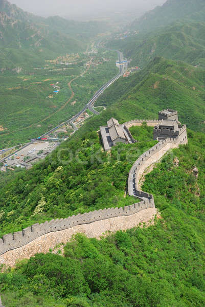 Great wall Cina bella panorama Pechino muro Foto d'archivio © anbuch