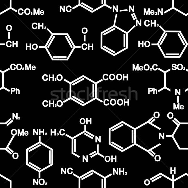 Seamless background with chemistry elements Stock photo © anbuch