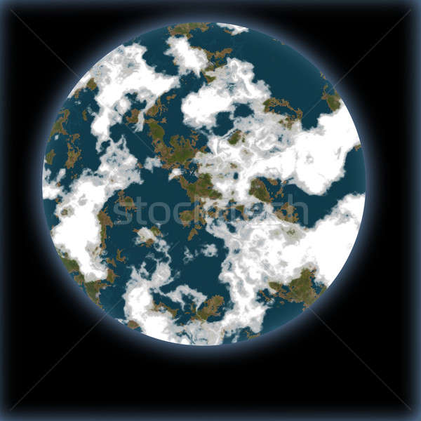Blue planet Stock photo © anbuch