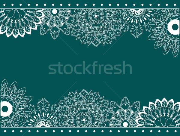 Fronteira abstrato flores estilo retro flor retro Foto stock © anbuch