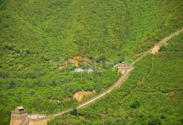 Nagy Fal Kína gyönyörű tájkép Peking fal Stock fotó © anbuch