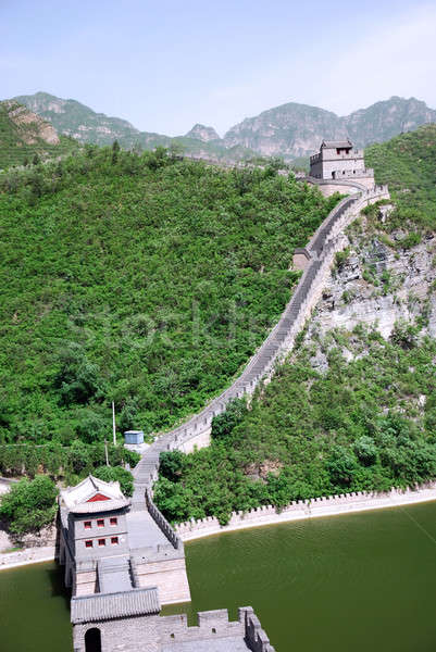 Gran muralla China uno pared naturaleza paisaje Foto stock © anbuch