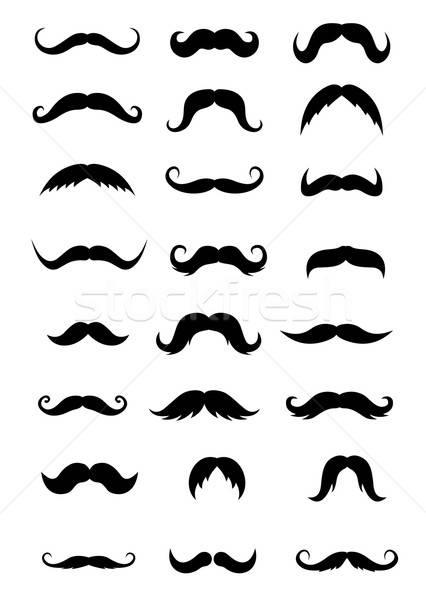 набор изолированный белый ретро парикмахера магазин Сток-фото © anbuch