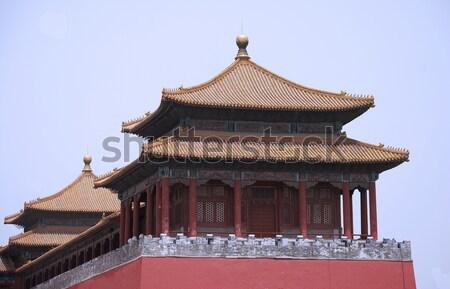 древних храма император Запретный город здании синий Сток-фото © anbuch