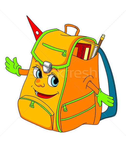 Cartoon school satchel Stock photo © anbuch