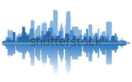 Modern şehir siluet mimari dizayn gökyüzü Stok fotoğraf © anbuch