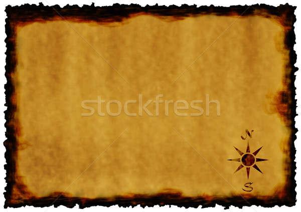 Eski kağıt harita dizayn renk model Stok fotoğraf © anbuch
