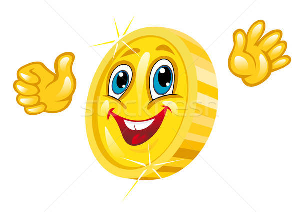 Smiling golden coin Stock photo © anbuch