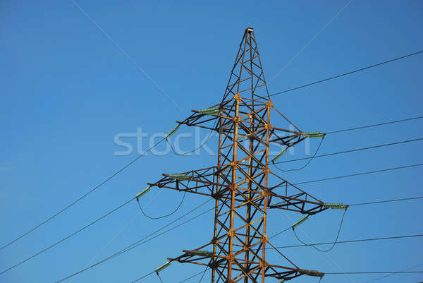 Electricity line Stock photo © anbuch