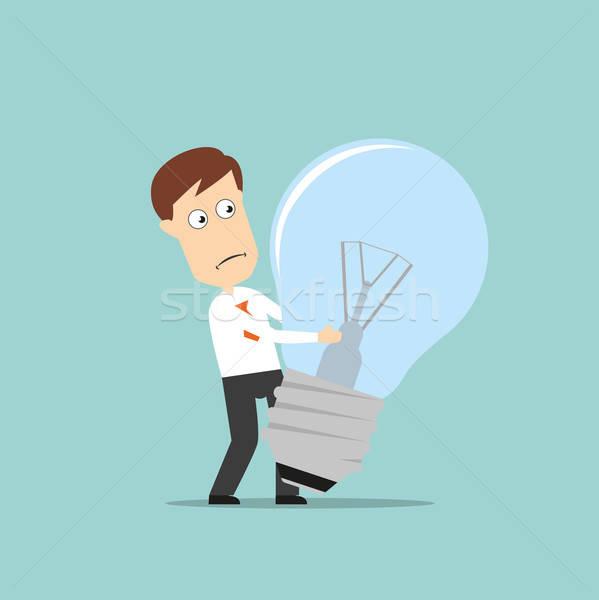 Empresário fracassado idéia confuso Foto stock © anbuch