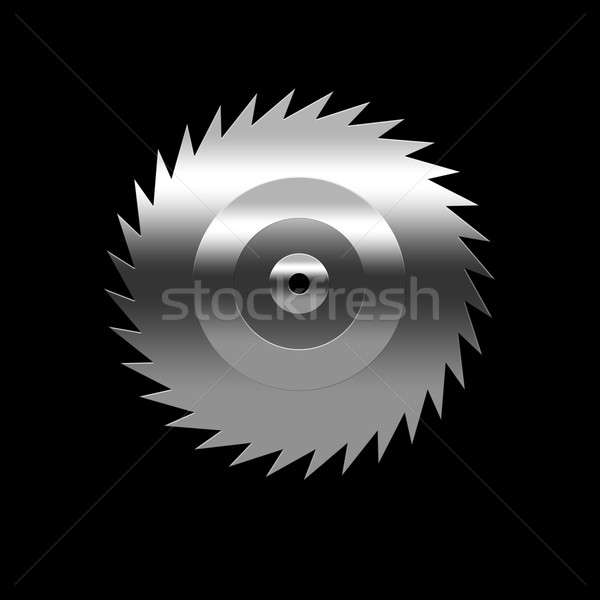 Izolált penge fűrész fekete háttér fém Stock fotó © anbuch