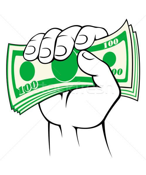 Cash money in hand Stock photo © anbuch