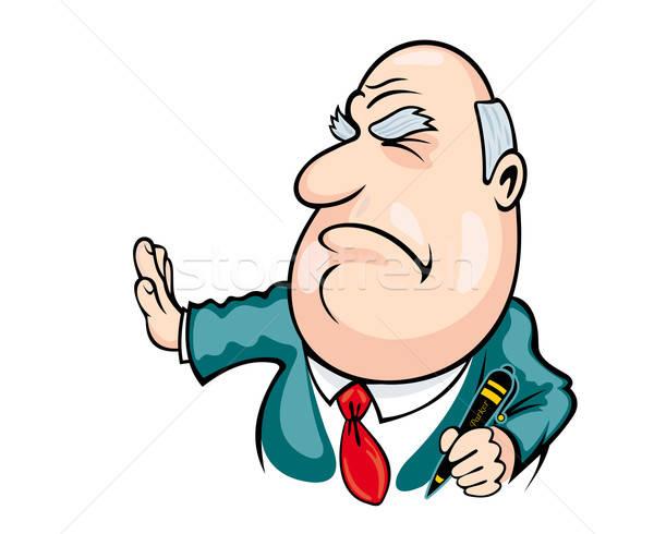 Groot baas cartoon stijl teken contract Stockfoto © anbuch