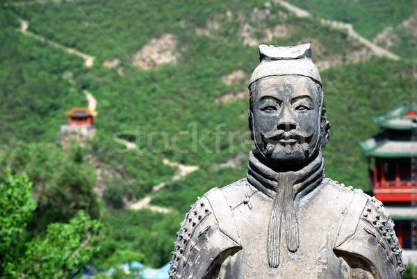 Ancient warrior on the Great Wall Stock photo © anbuch