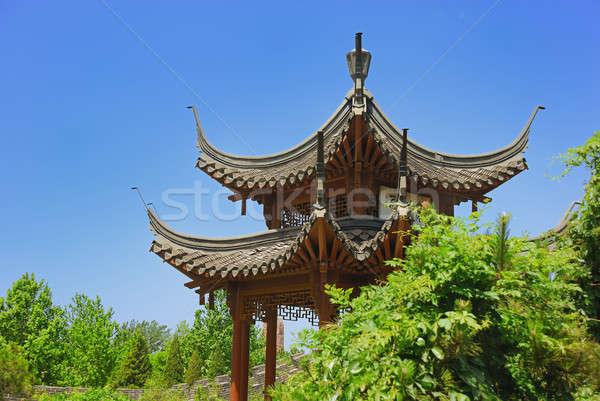 мало древних храма Запретный город саду завода Сток-фото © anbuch