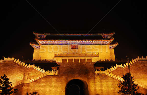 Night illumination of temple Stock photo © anbuch