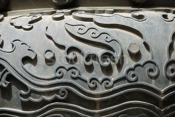 ősi ÁFA tiltott város terv háttér kínai Stock fotó © anbuch