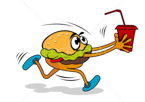 Hamburger with juice Stock photo © anbuch