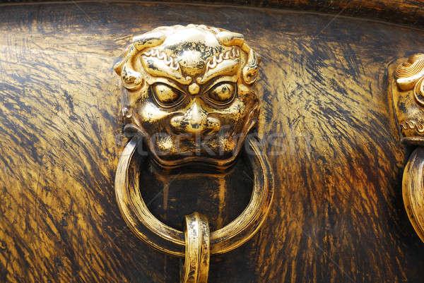 ősi bronz fogantyú ÁFA tiltott város terv Stock fotó © anbuch