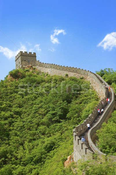 Nagy Fal Kína gyönyörű tájkép Peking természet Stock fotó © anbuch