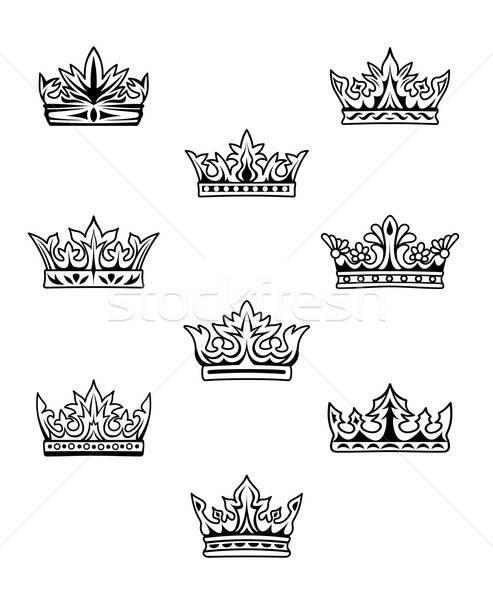 набор царя королева знак золото ретро Сток-фото © anbuch