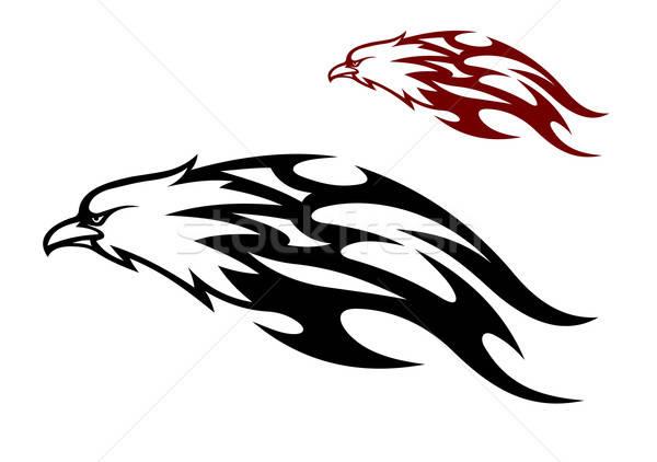 Vuelo águila llamas icono cruel Foto stock © anbuch