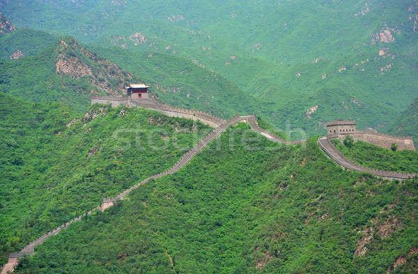 Great wall bella panorama Pechino natura pietra Foto d'archivio © anbuch
