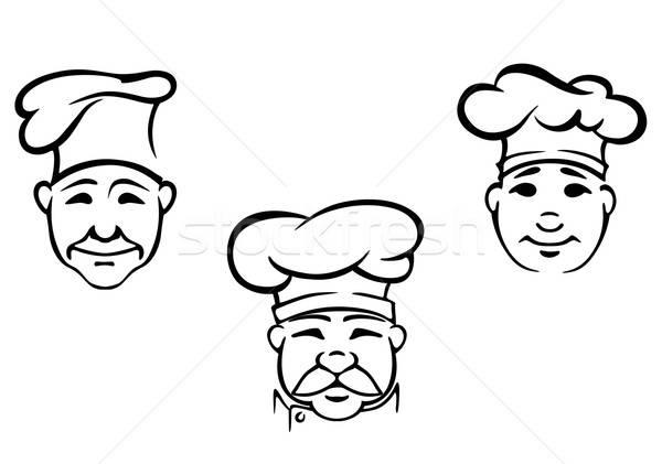 Chefs establecer restaurante diseno alimentos feliz Foto stock © anbuch