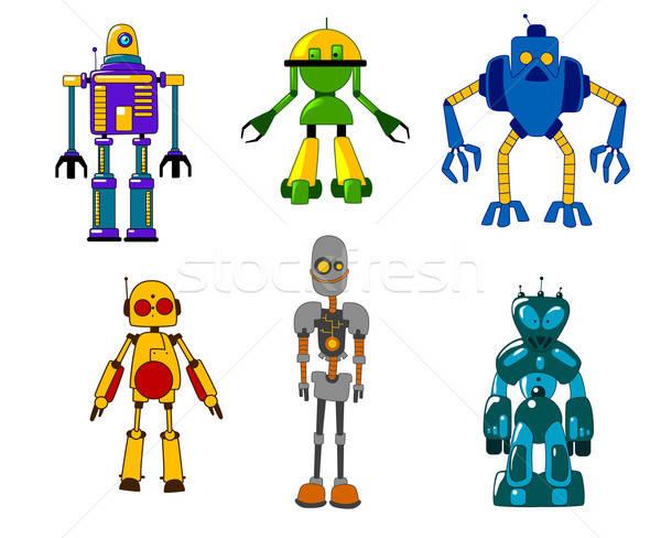 Giocattolo robot mostri set colorato classico Foto d'archivio © anbuch