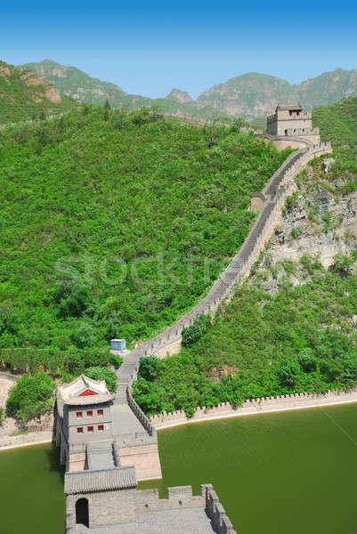 Stock fotó: Nagy · Fal · Kína · gyönyörű · tájkép · Peking · fal