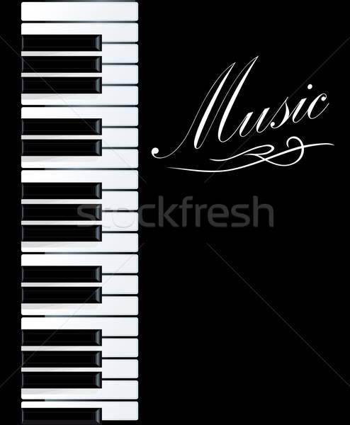фортепиано музыкальный дизайна концерта ключевые черный Сток-фото © anbuch