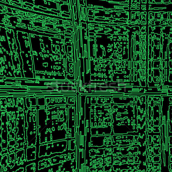 Bilgisayar soyut arka plan bilim devre yonga Stok fotoğraf © anbuch