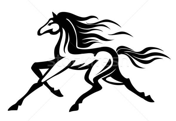 Running horse Stock photo © anbuch