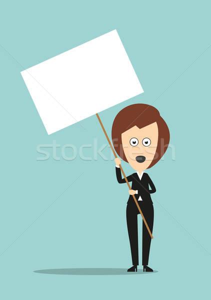 деловой женщины копия пространства Постоянный открытых рот Сток-фото © anbuch