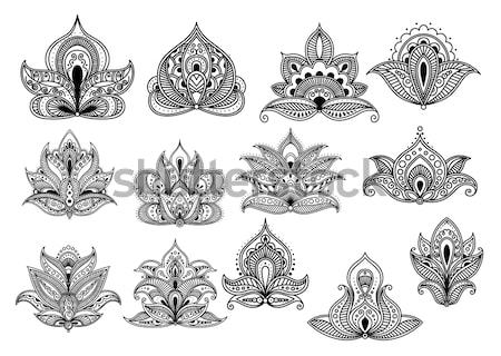 Abstract persian and indian flower blossoms Stock photo © anbuch