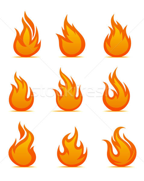 Stock photo: Fire warning symbols