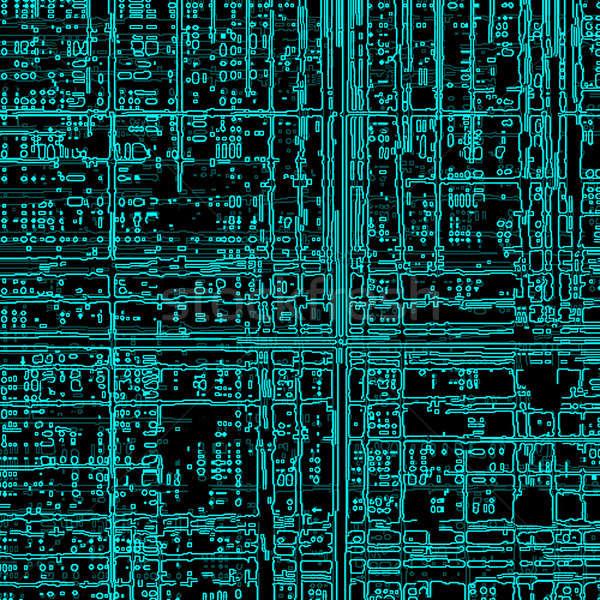 компьютер аннотация фон науки схеме чипа Сток-фото © anbuch
