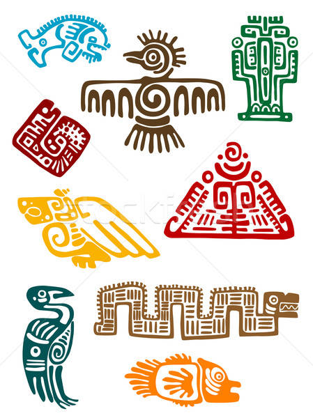Ancient maya monsters Stock photo © anbuch