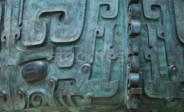 ősi ÁFA bronz történelem absztrakt háttér Stock fotó © anbuch