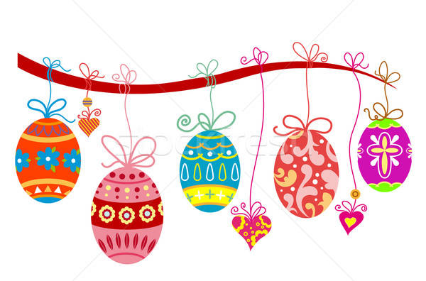 Easter holiday background Stock photo © anbuch