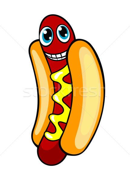 Rajz hotdog mosolyog kutya terv étterem Stock fotó © anbuch
