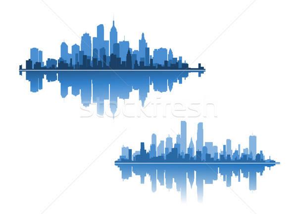 şehir iki modern iş kavramlar gökyüzü Stok fotoğraf © anbuch