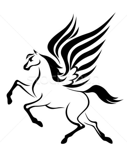 Pegasus horse with wings Stock photo © anbuch