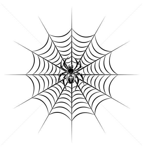 商业照片: 蜘蛛网 · 部落的 · 风格 · 纹身 · 死亡 · 侧影图片