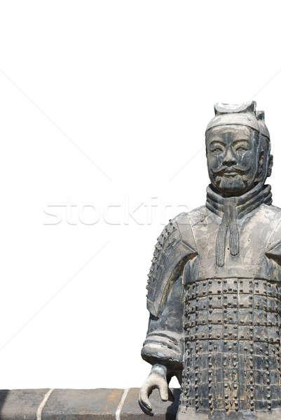 Old stone warrior Stock photo © anbuch